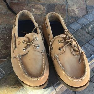 Sperry topsides leather